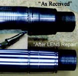 Comparison of thermal spray repaired shaft and LENS® repaired shaft.