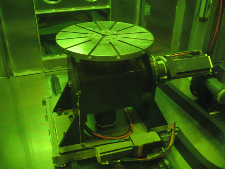 557 Laser Deposition System II - Tilt and Rotate Table